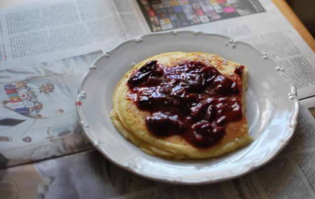 Pancake und Zeitung