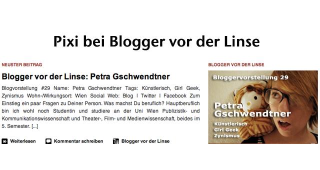 header Blogger vor der Linse