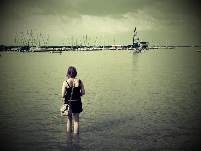 Im See; Foto von catearcher