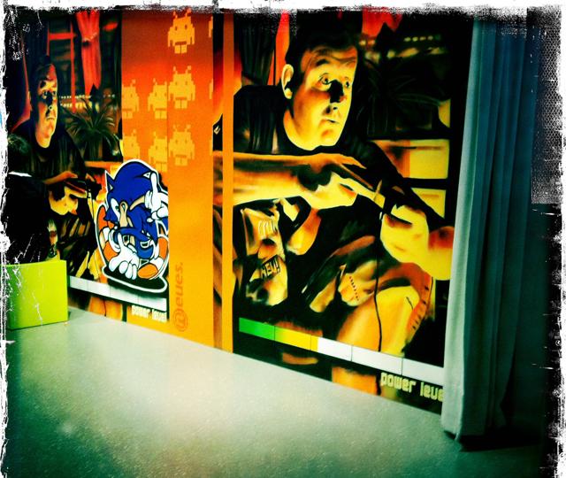 Wand im Computerspielemuseum