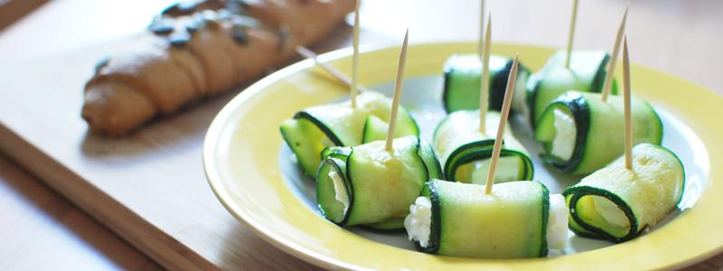 Zucchini-Feta-Röllchen