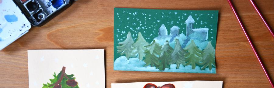 Weihnachtskarten  Pixi mit Milch