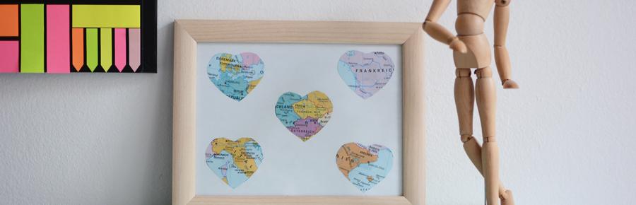 Weltkarte-DIY |Pixi mit Milch