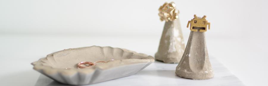 DIY Schmuckaufbewahrung aus Zement | Pixi mit Milch