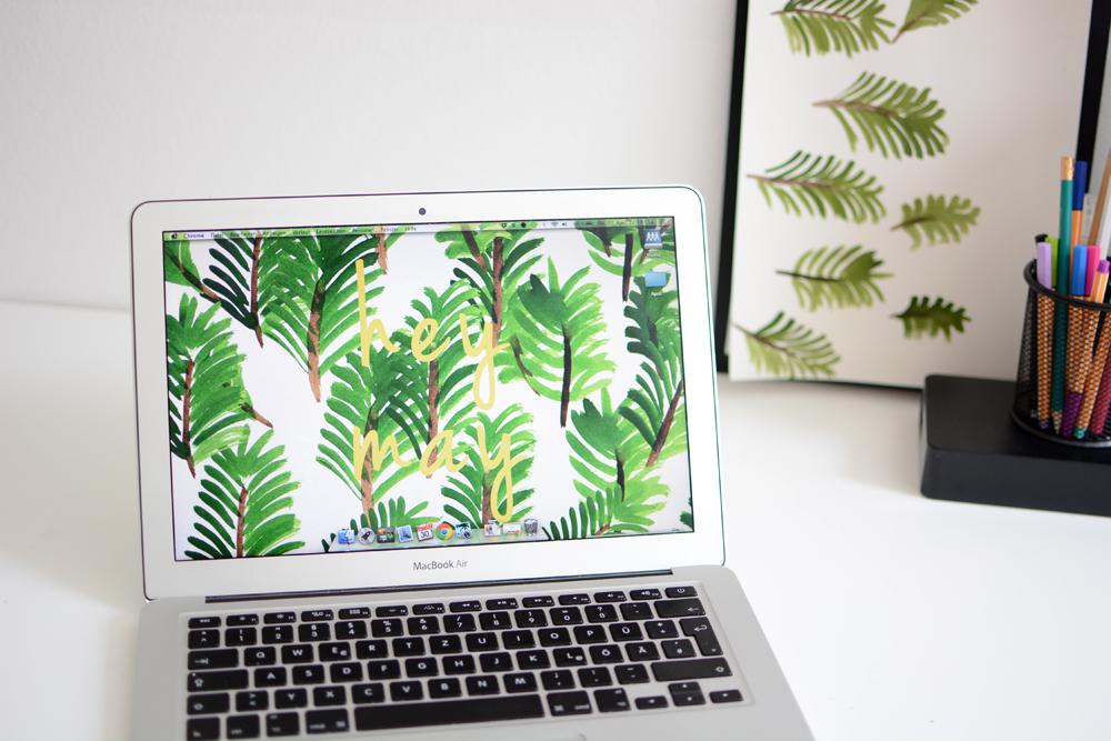 Pflanzen-Wallpaper-Mai  Pixi mit Milch