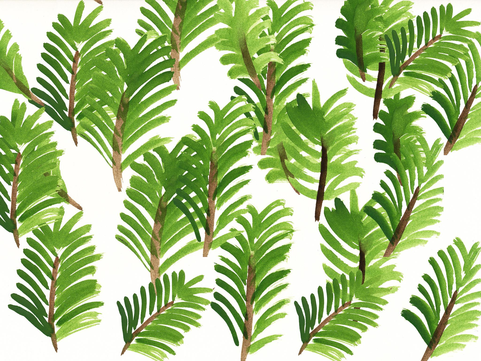 Design Pflanzen Wallpaper Für Mai Pixi Mit Milch