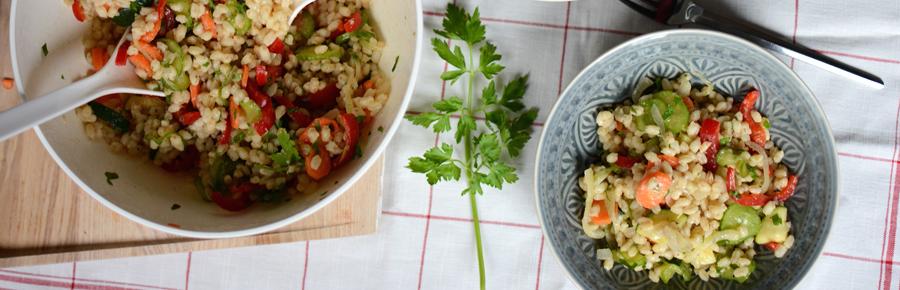Zartweizen-Salat | Pixi mit Milch