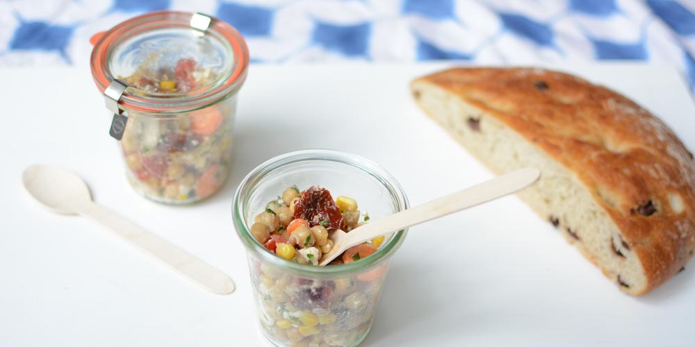Kichererbsen-Salat |Pixi mit Milch