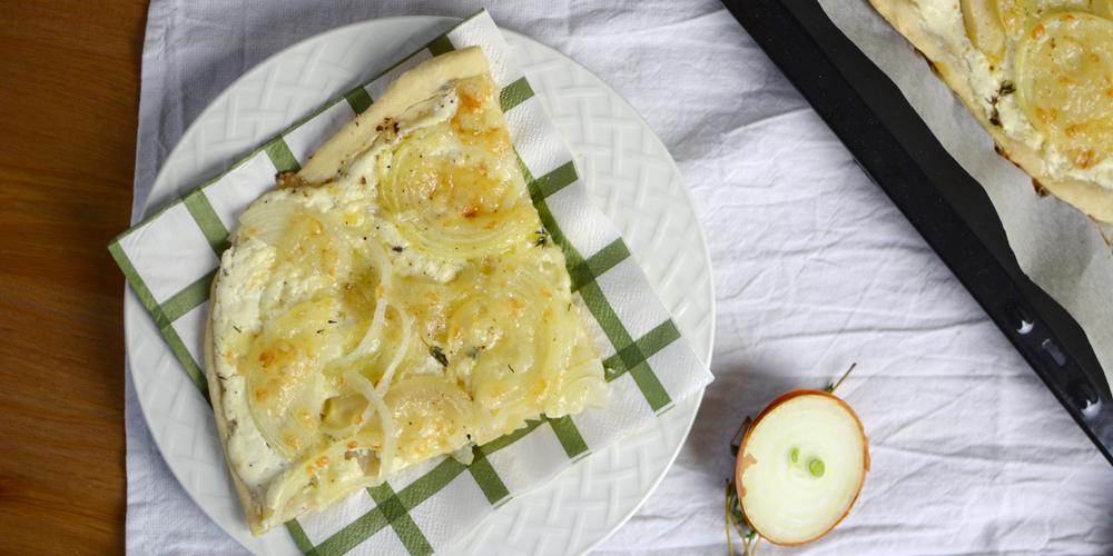 Zwiebel-Flammkuchen |Pixi mit Milch