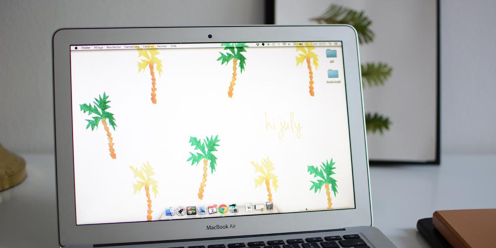 Palmen-Wallpaper-Desktop |Pixi mit Milch