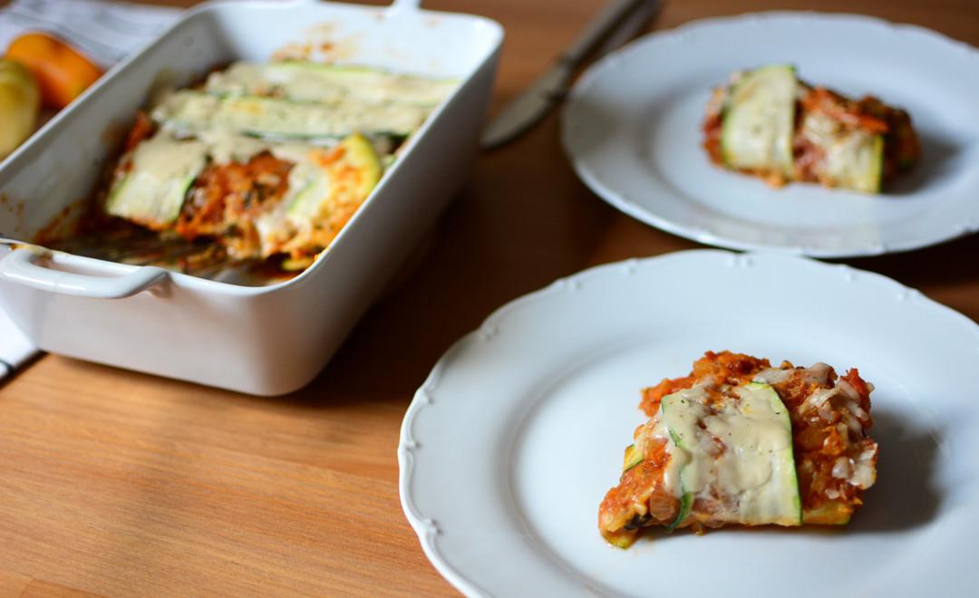Rezept Vegane Kürbis Lasagne Mit Zucchini Pixi Mit Milch