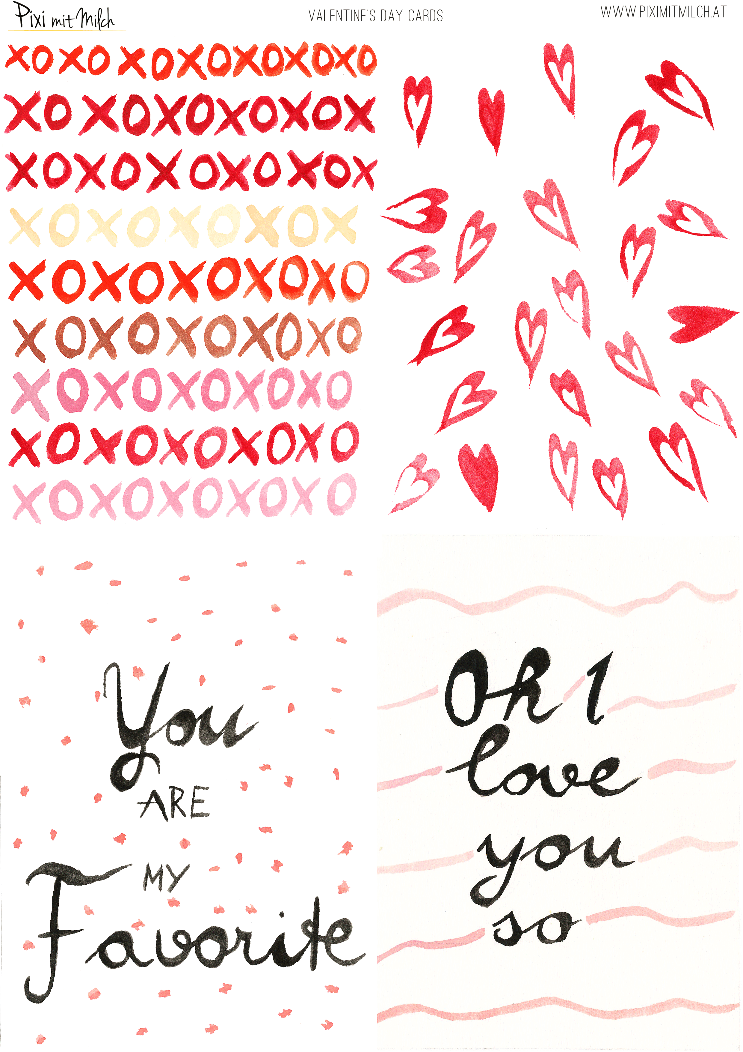 Holt Euch Meine Karten Zum Verschenken (pdf) Oder Stöbert Im Archiv Nach  Weiteren Geschenkideen Für Den Valentinstag.