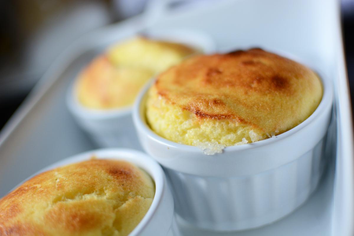 gebackenes Souffle |Pixi mit Milch