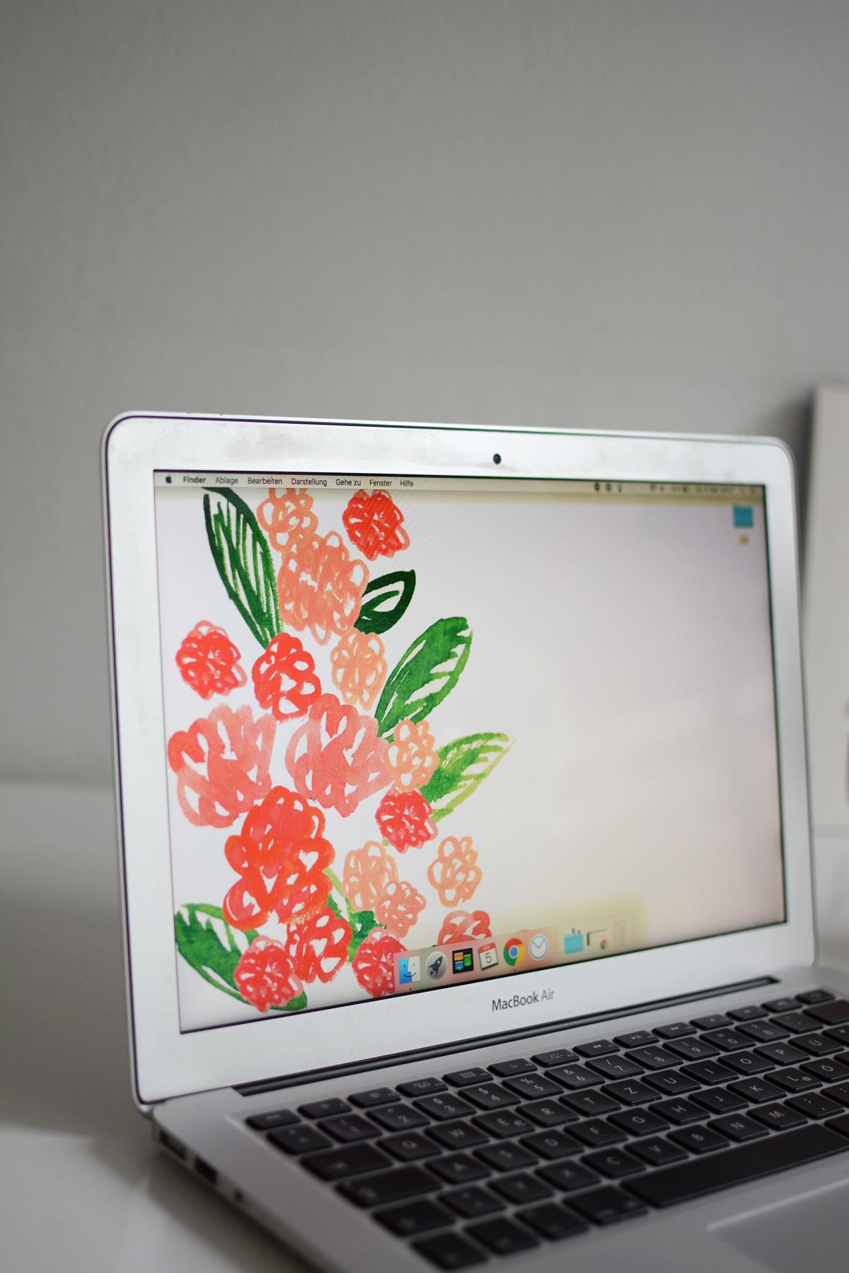 Blumen-Wallpaper Freebie  Pixi mit Milch
