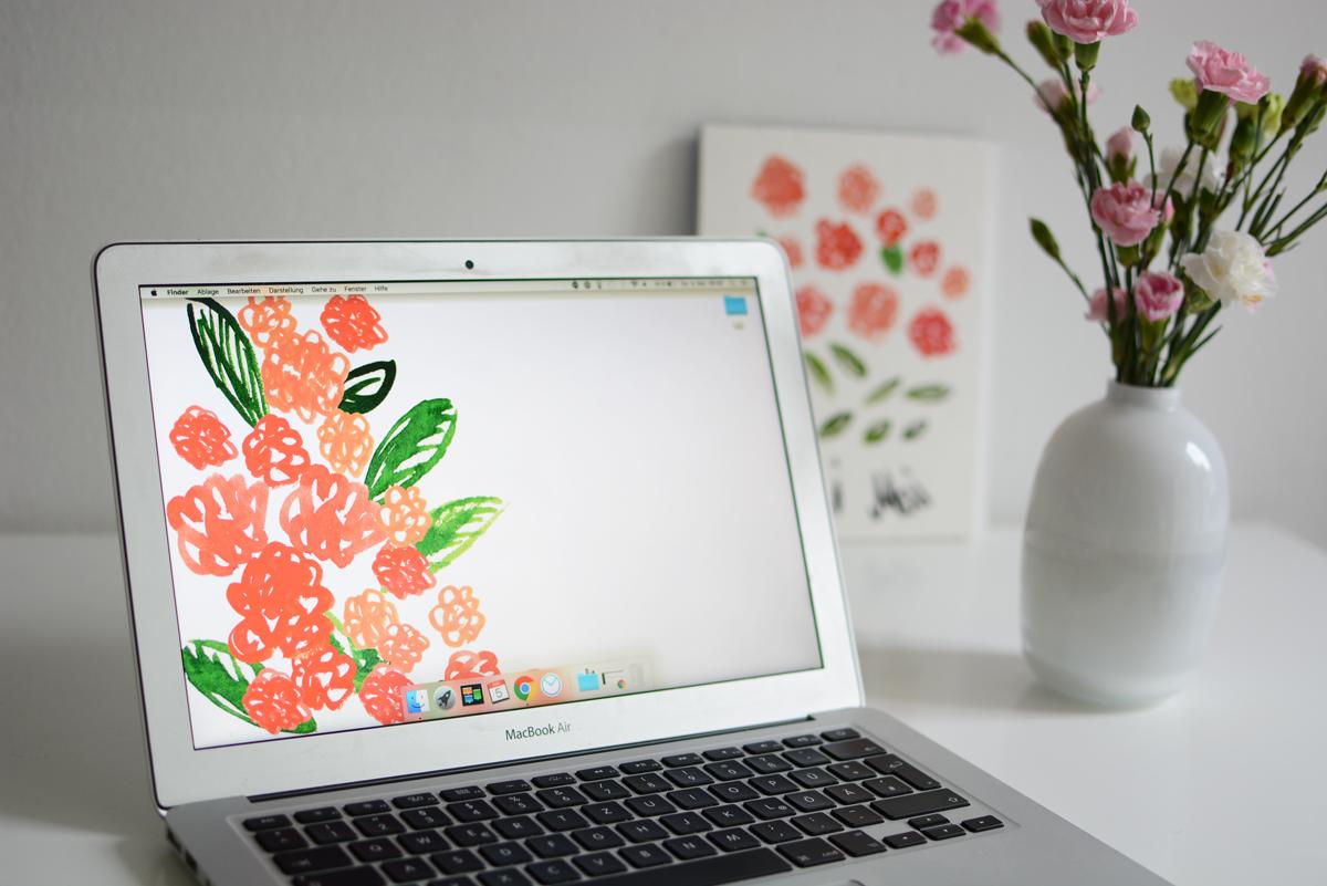 Blumen-Wallpaper  Pixi mit Milch