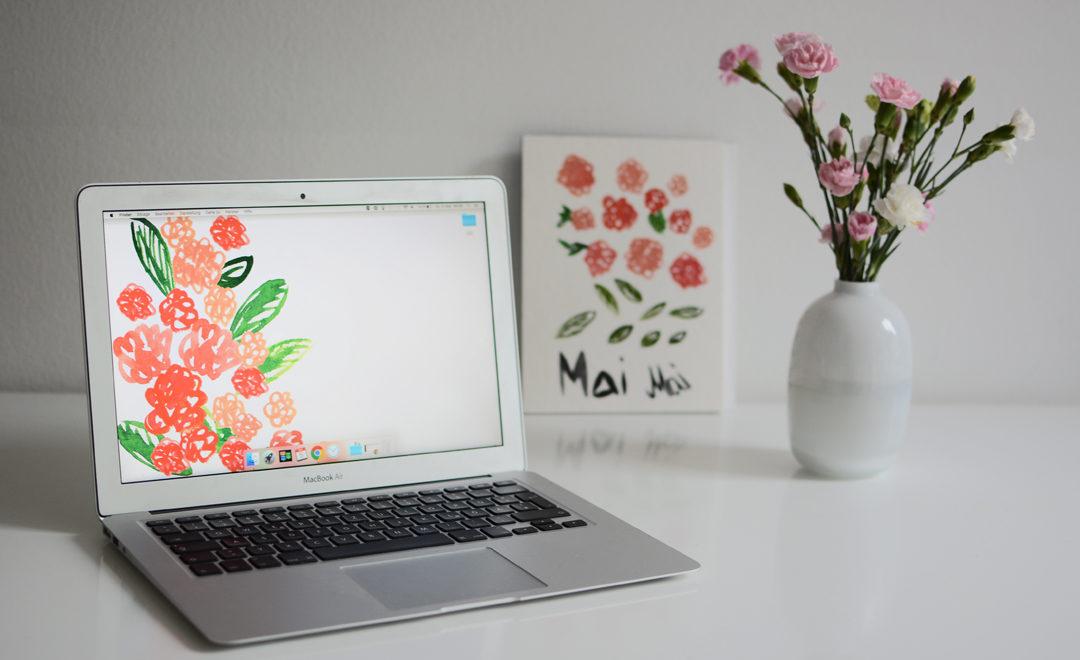Flower-Wallpaper  Pixi mit Milch