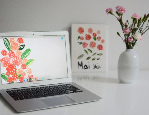 Flower-Wallpaper |Pixi mit Milch