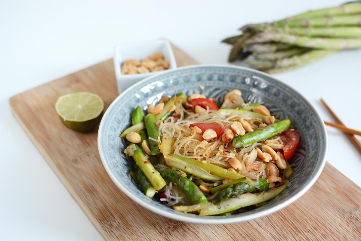 Glasnudel-Spargel-Salat |Pixi mit Milch