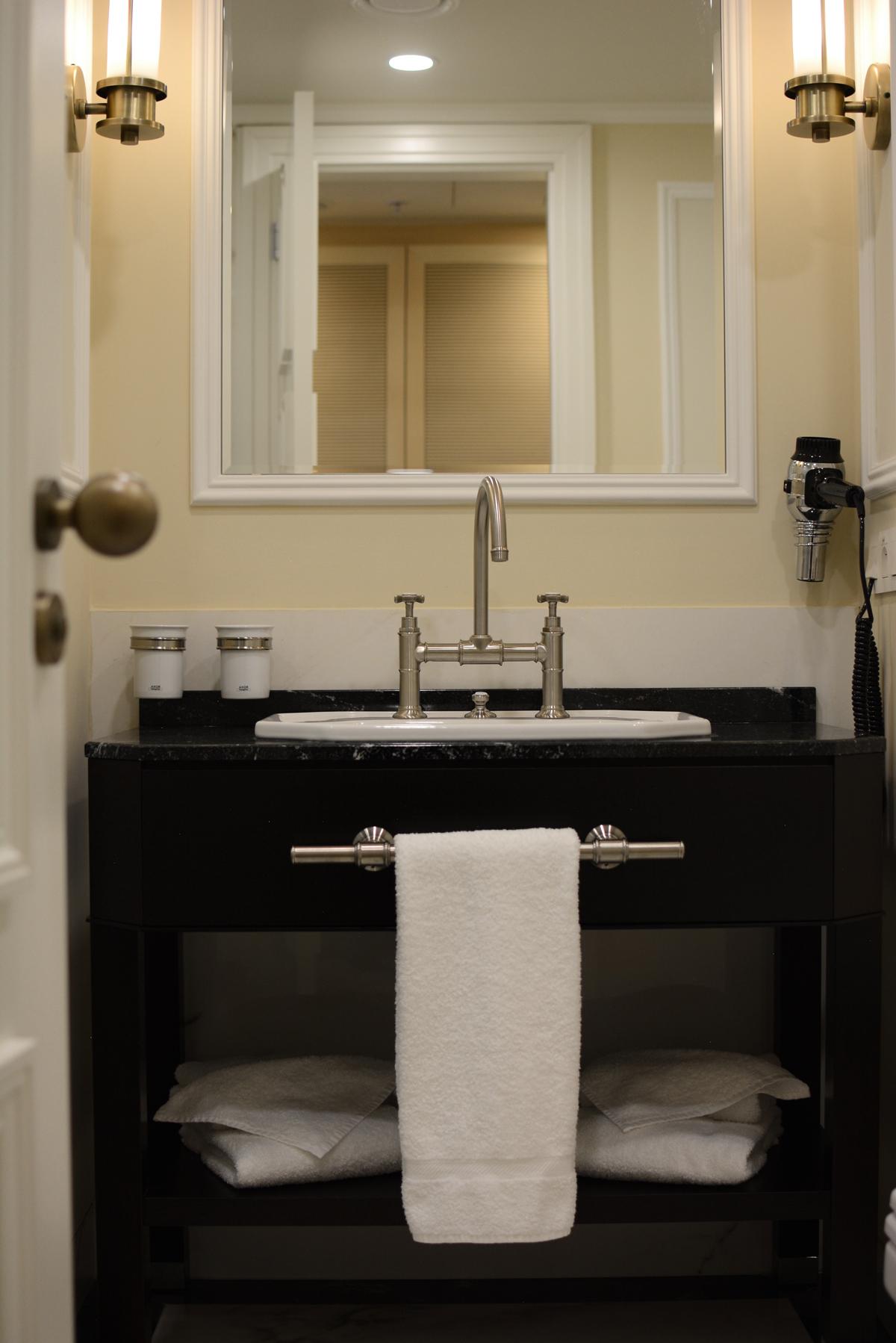 Loft Hotel Badezimmer |Pixi mit Milch