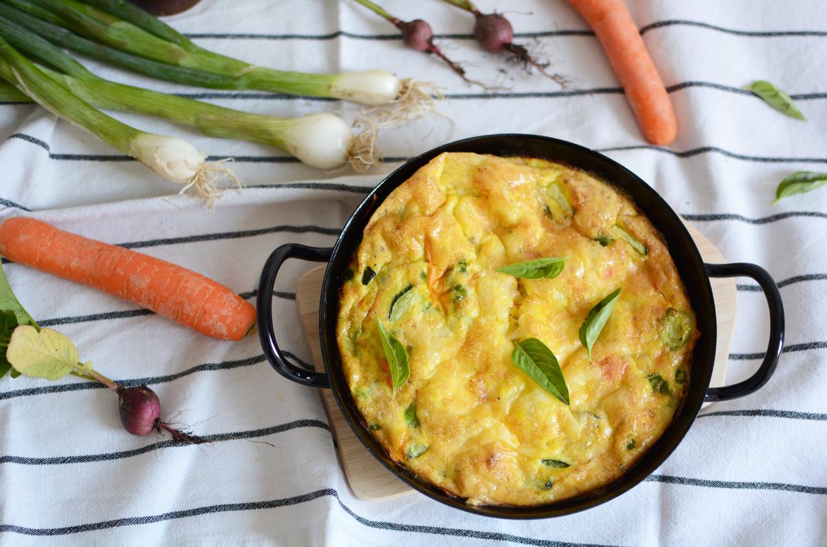 Frittata mit Gemüse | Pixi mit Milch