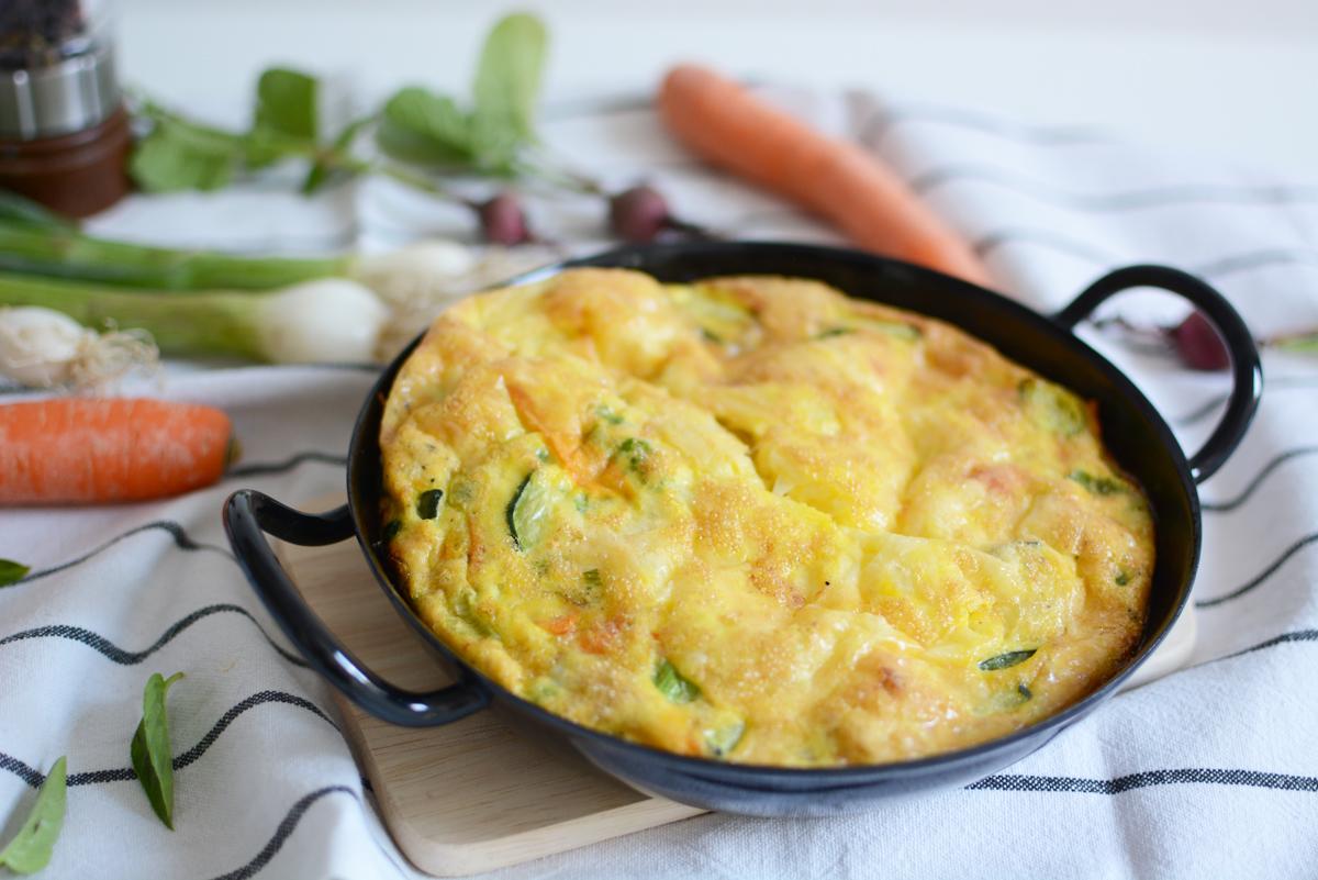 Gemüse-Frittata | Pixi mit Milch