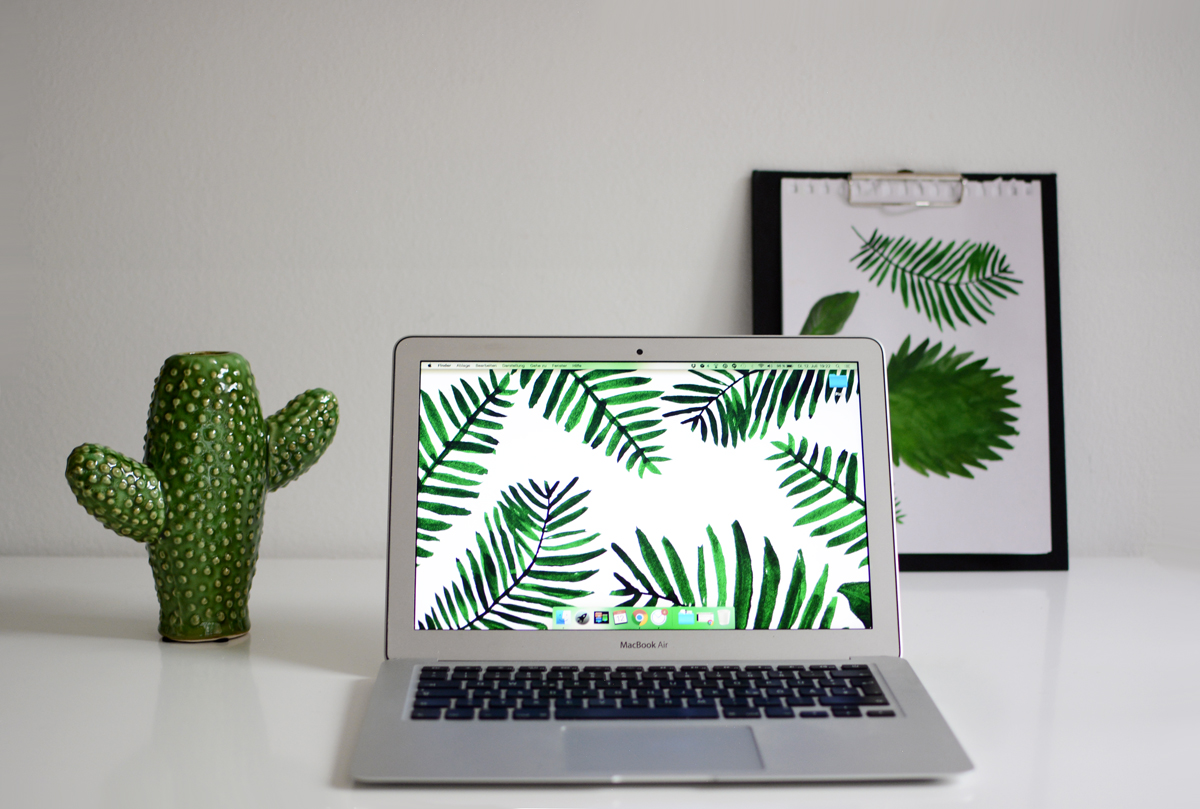 Palm-Leaves-Wallpaper | Pixi mit Milch