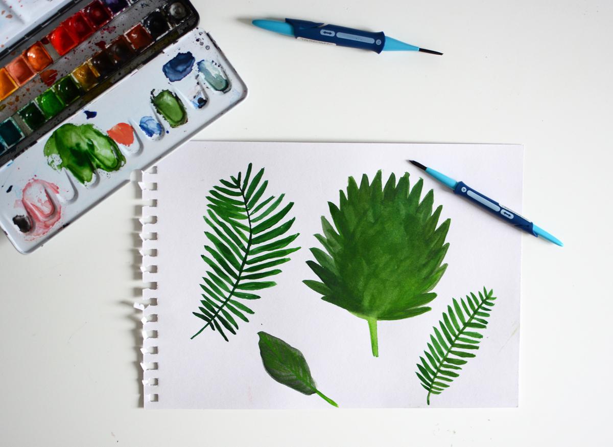 Palm Leaves zeichnen | Pixi mit Milch