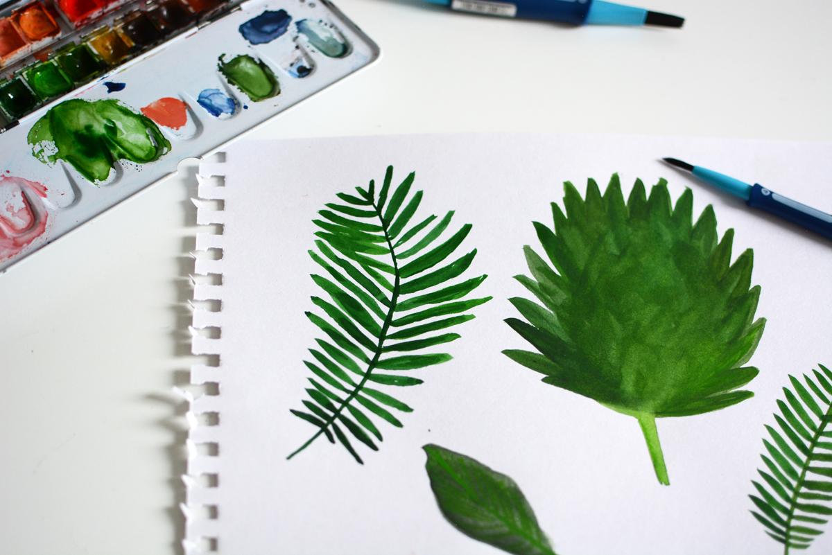 Palm Leaves Zeichnung | Pixi mit Milch