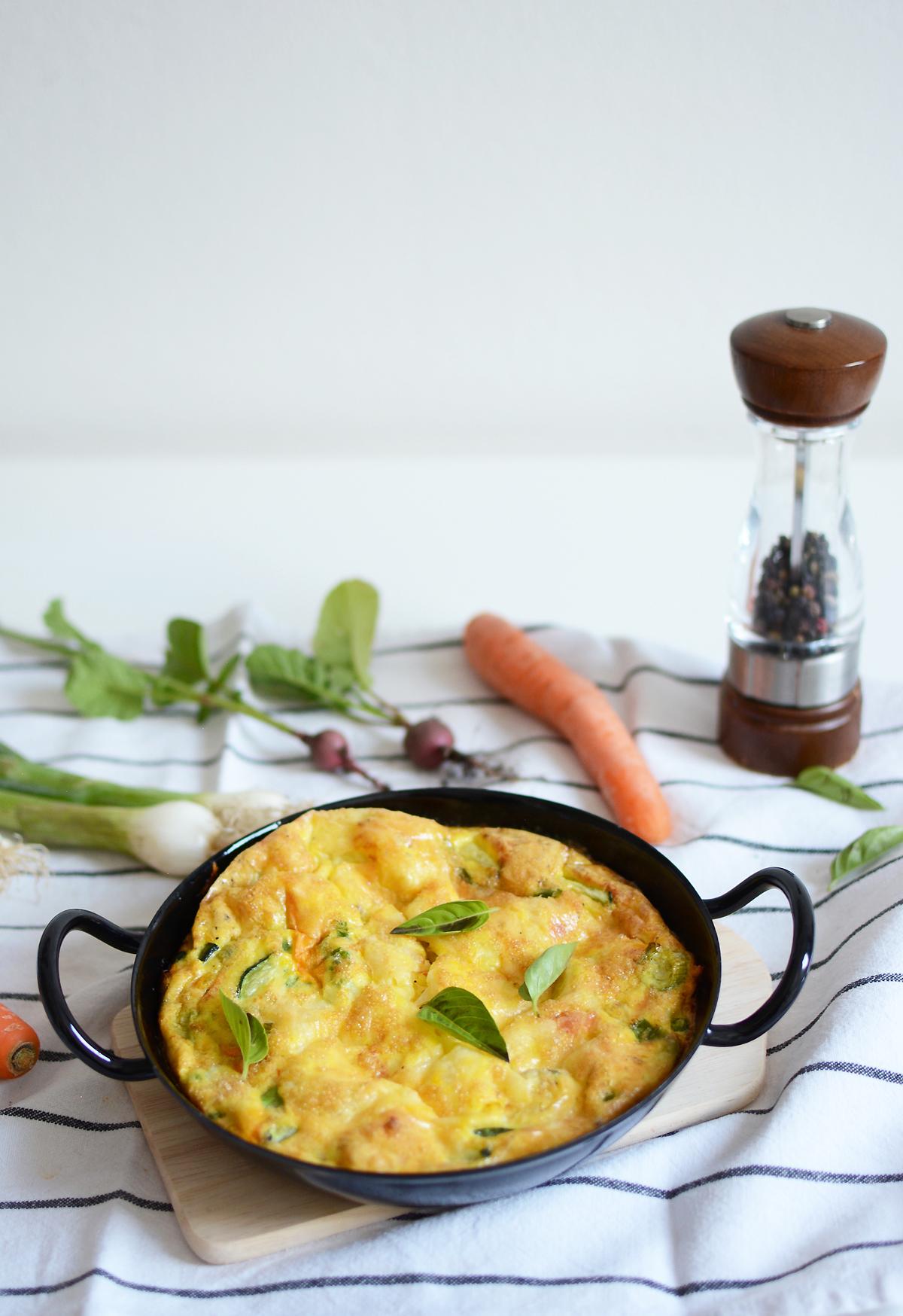 Rezept für Gemüse Frittata | Pixi mit Milch