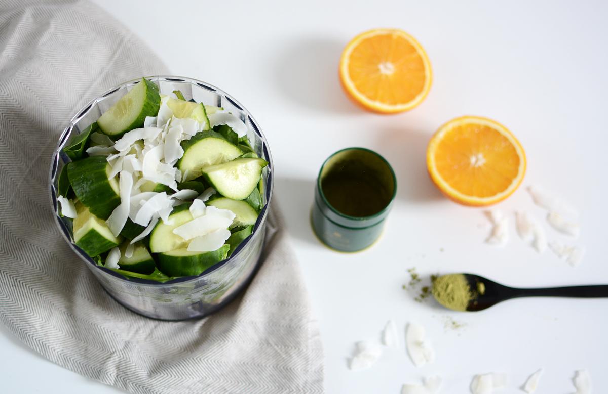 Green Smoothie Bowl Zutaten | Pixi mit Milch