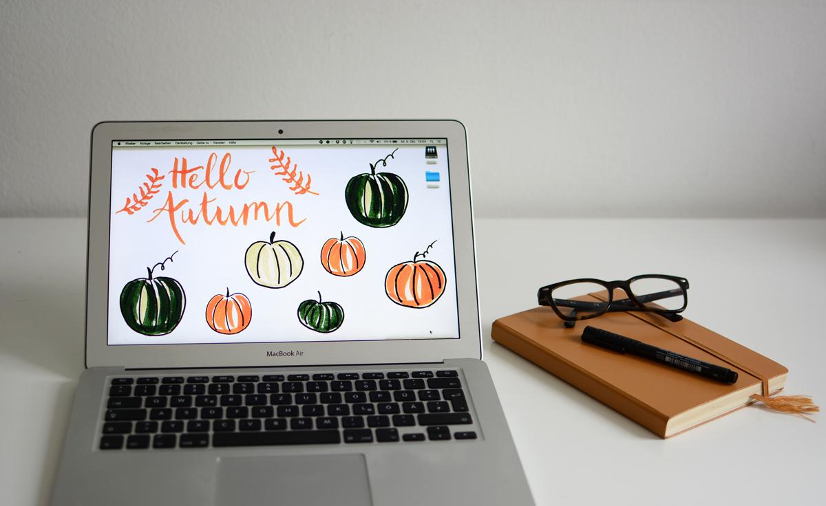 pumpkin wallpaper im oktober | pixi mit milch