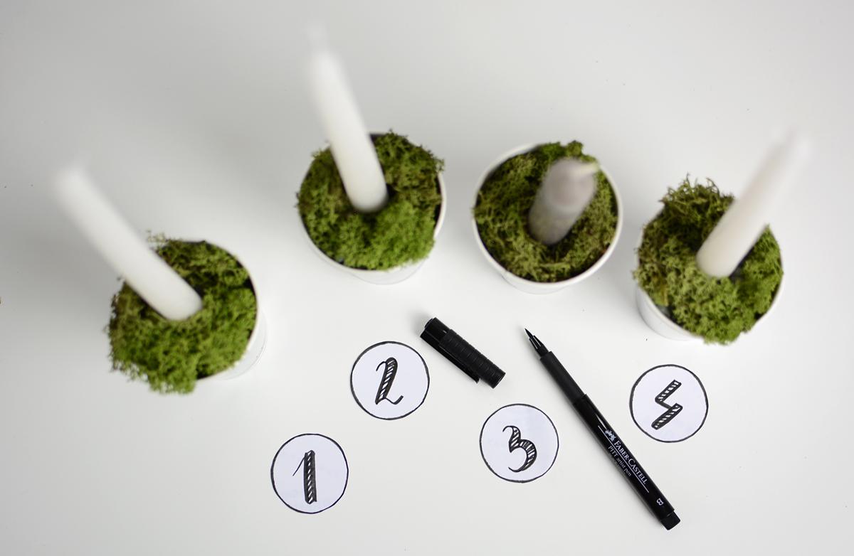 Adventkranz DIY |pixi mit milch