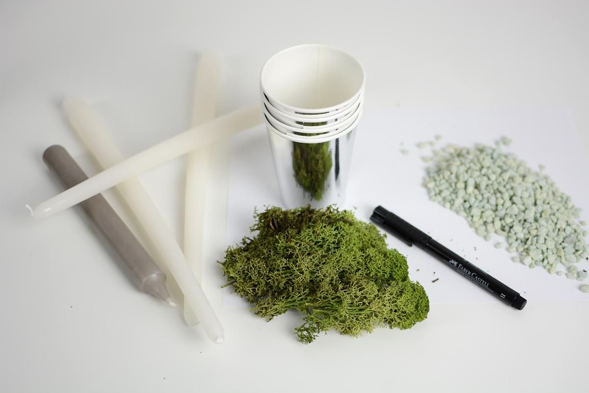Adventkranz: Material | Pixi mit Milch
