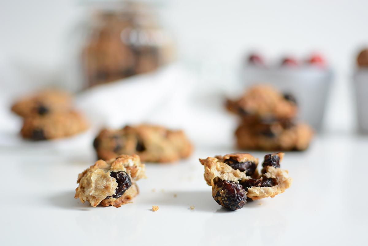 Cranberry-Cookies vegan | Pixi mit Milch