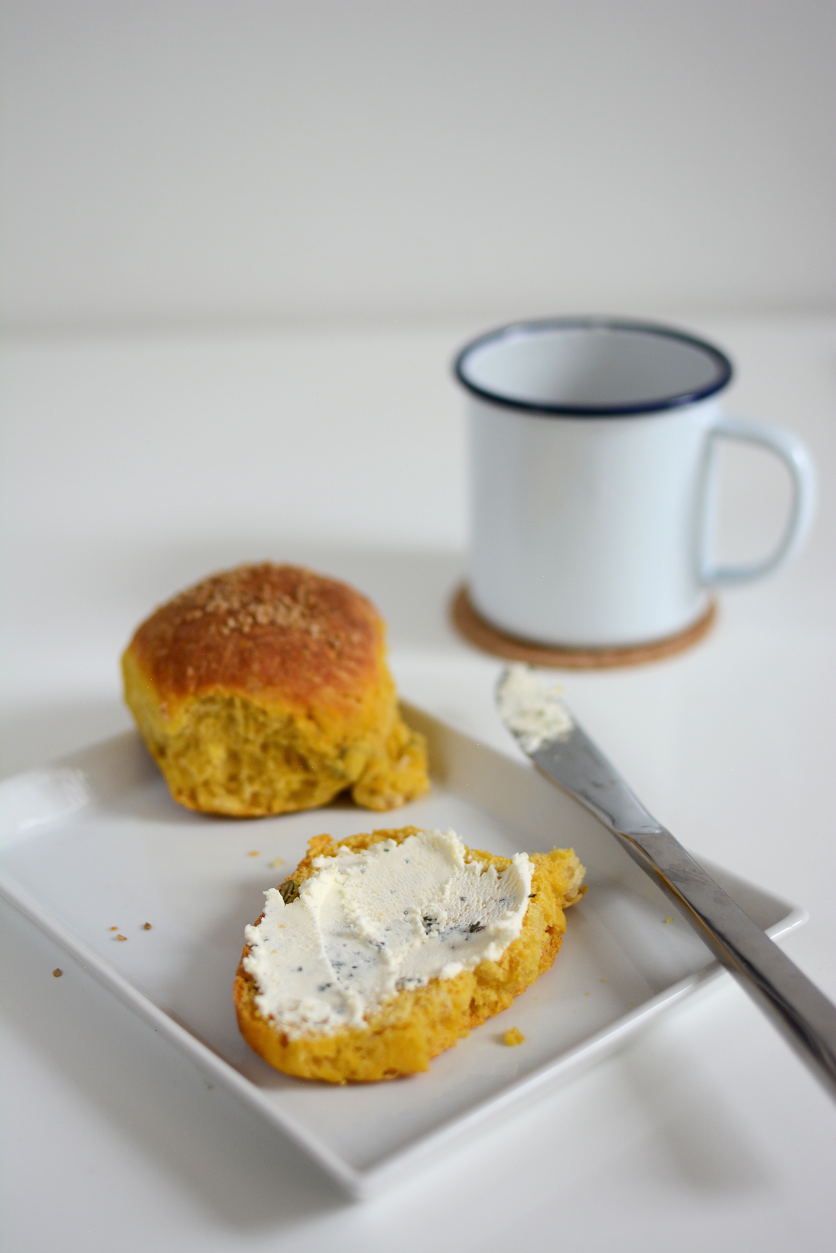 Kürbisbrötchen Selbermachen | Pixi mit Milch