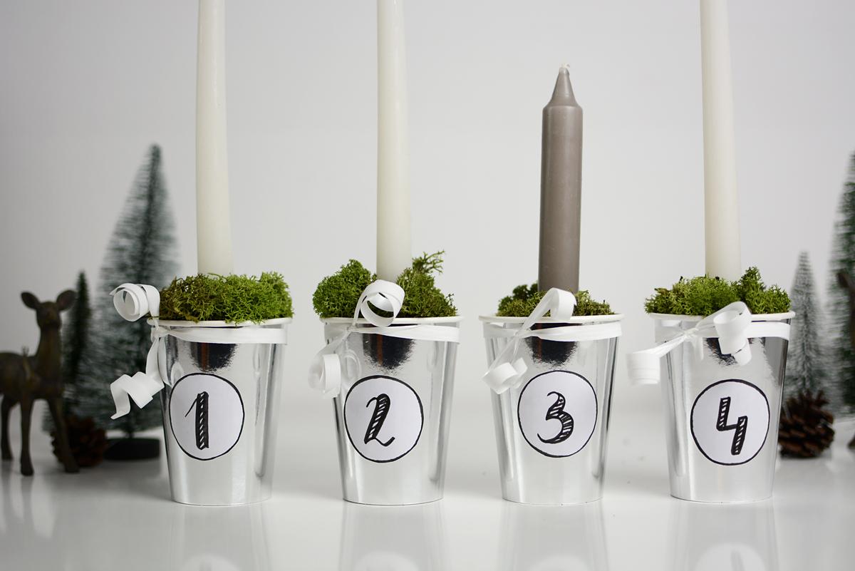 Skandinavischer Adventkranz: DIY |pixi mit milch