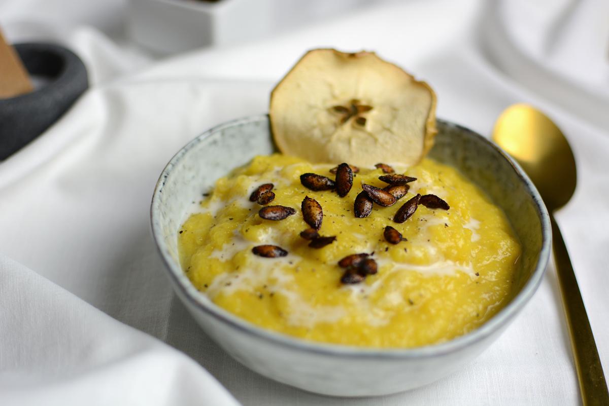 Butternuss-Kürbis-Suppe |Pixi mit Milch