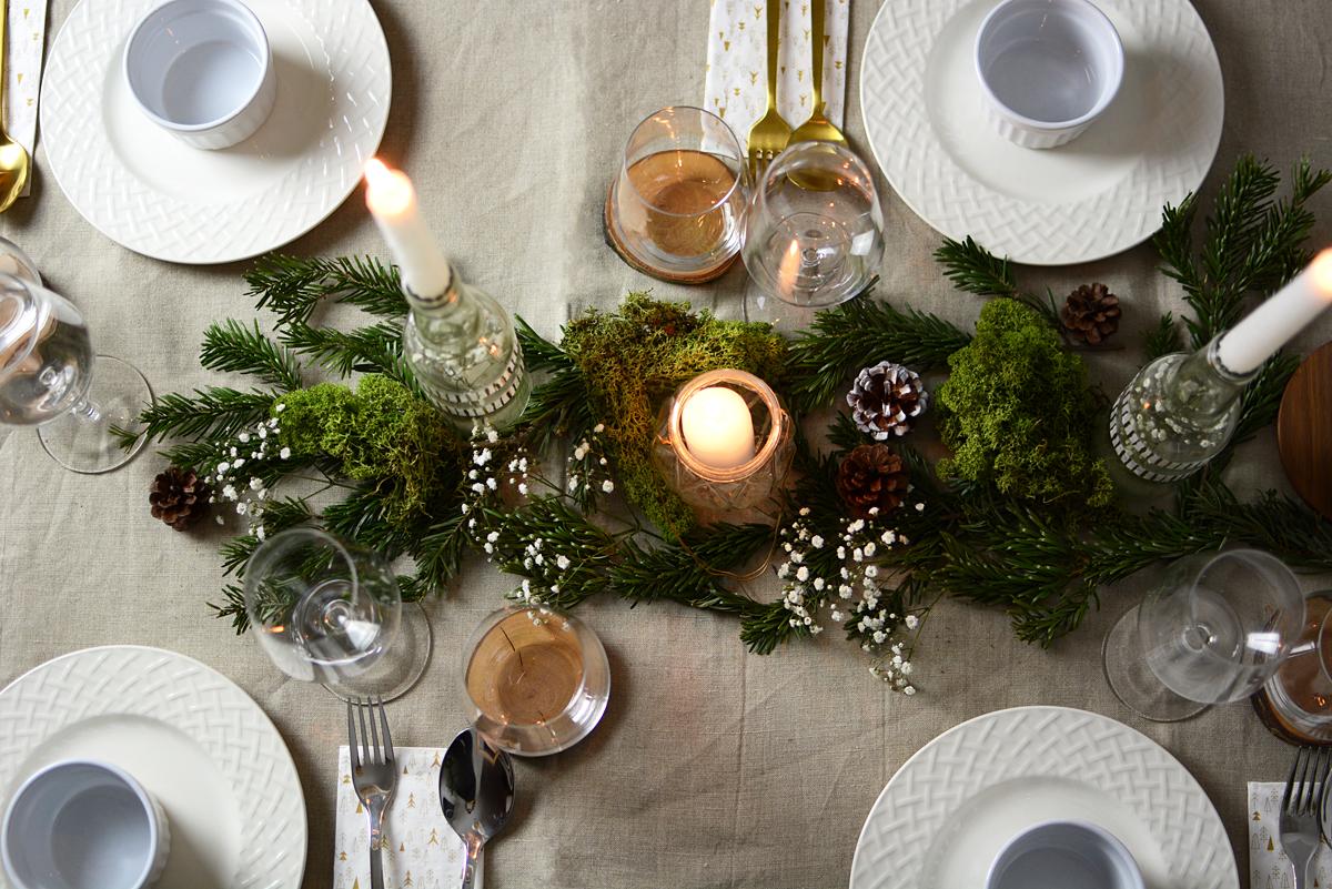 diy weihnachtliche tischdeko pixi mit milch. Black Bedroom Furniture Sets. Home Design Ideas