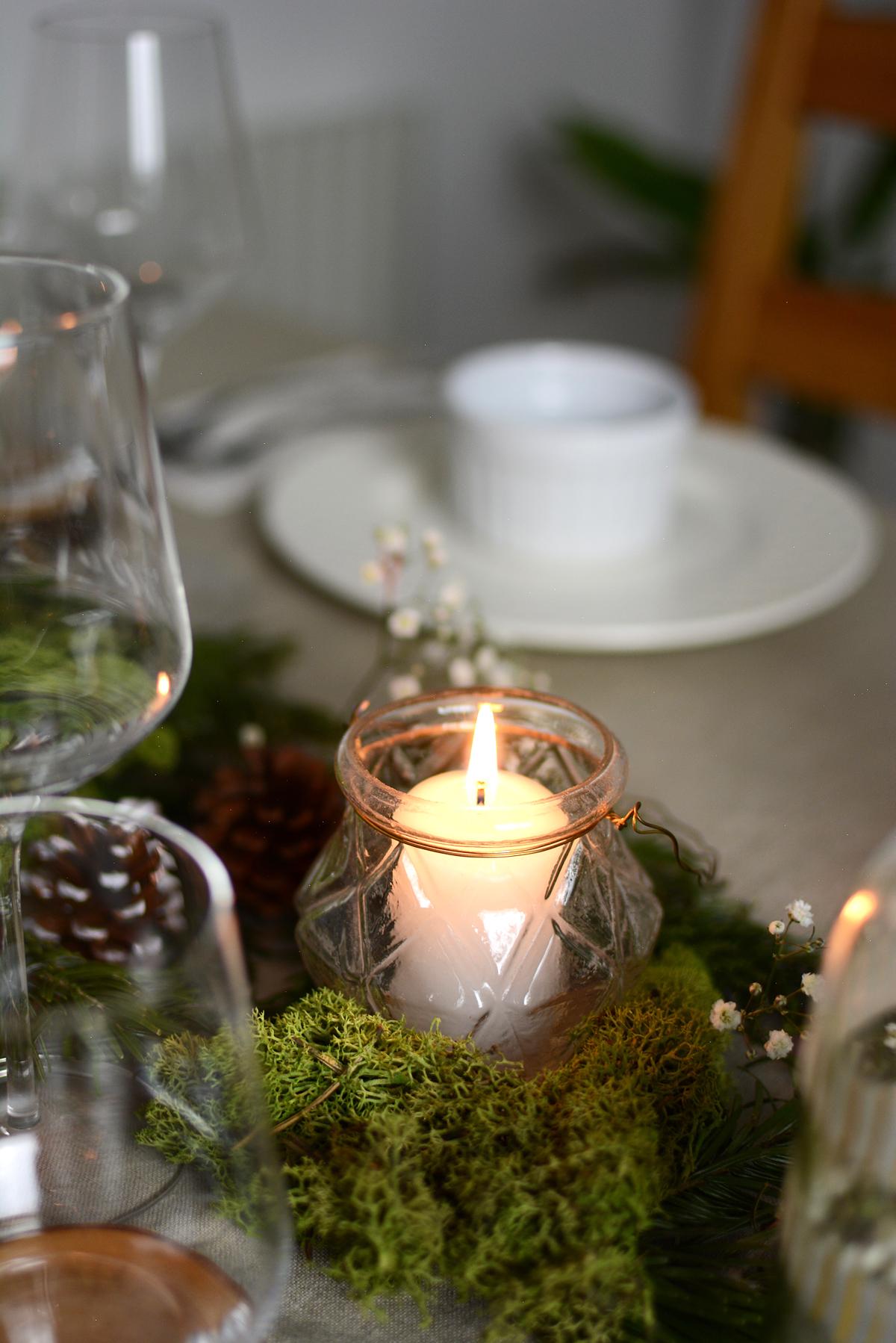 DIY: Weihnachtliche Tischdeko |Pixi mit Milch