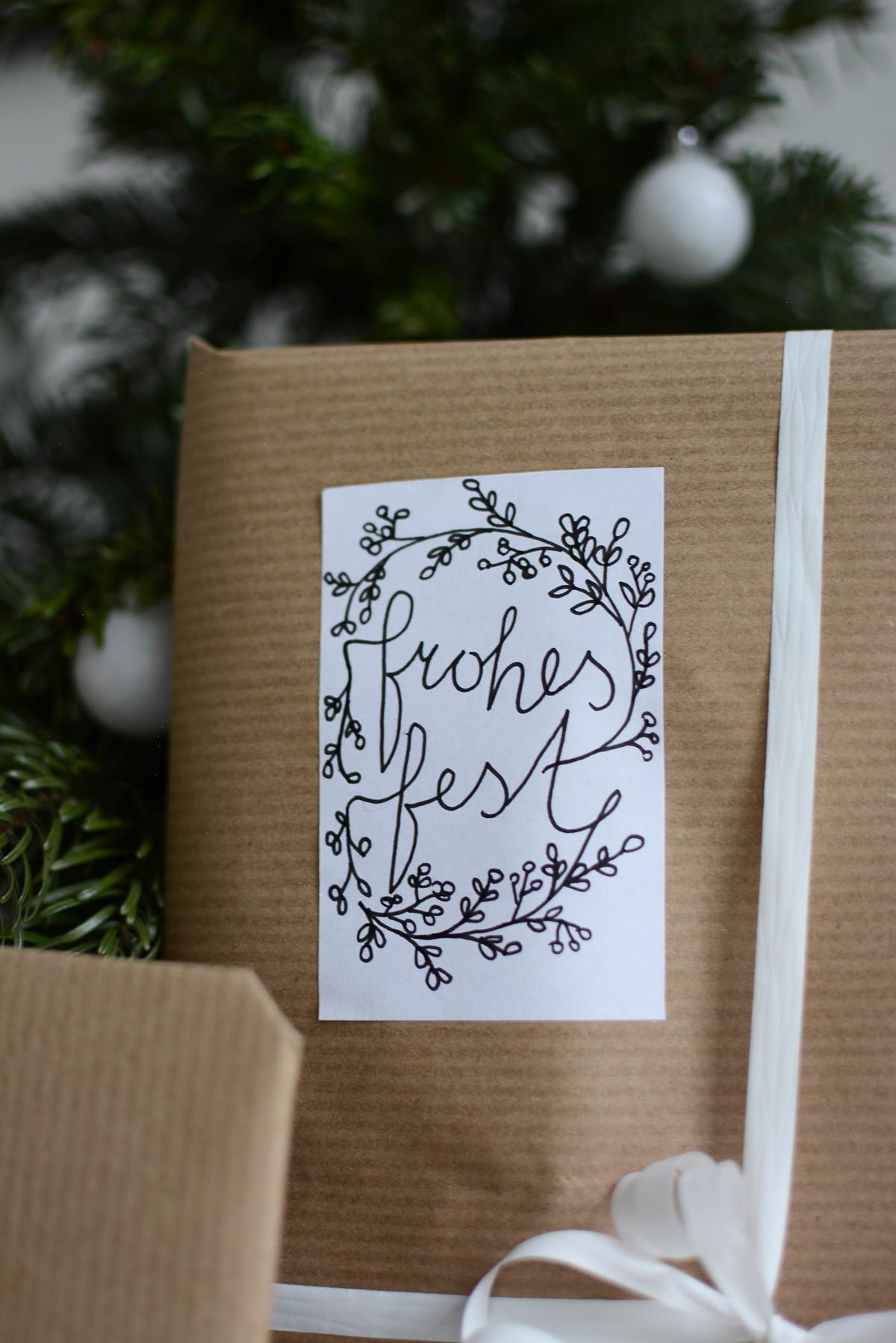 Frohes Fest Sticker   pixi mit milch