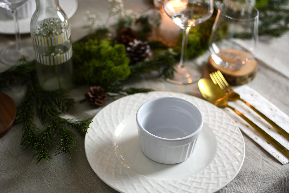 Weihnachtessen Tischdeko |Pixi mit Milch