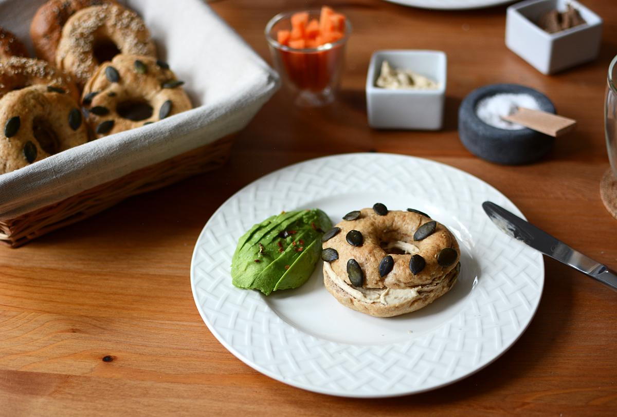 Homemade Bagels | Pixi mit Milch
