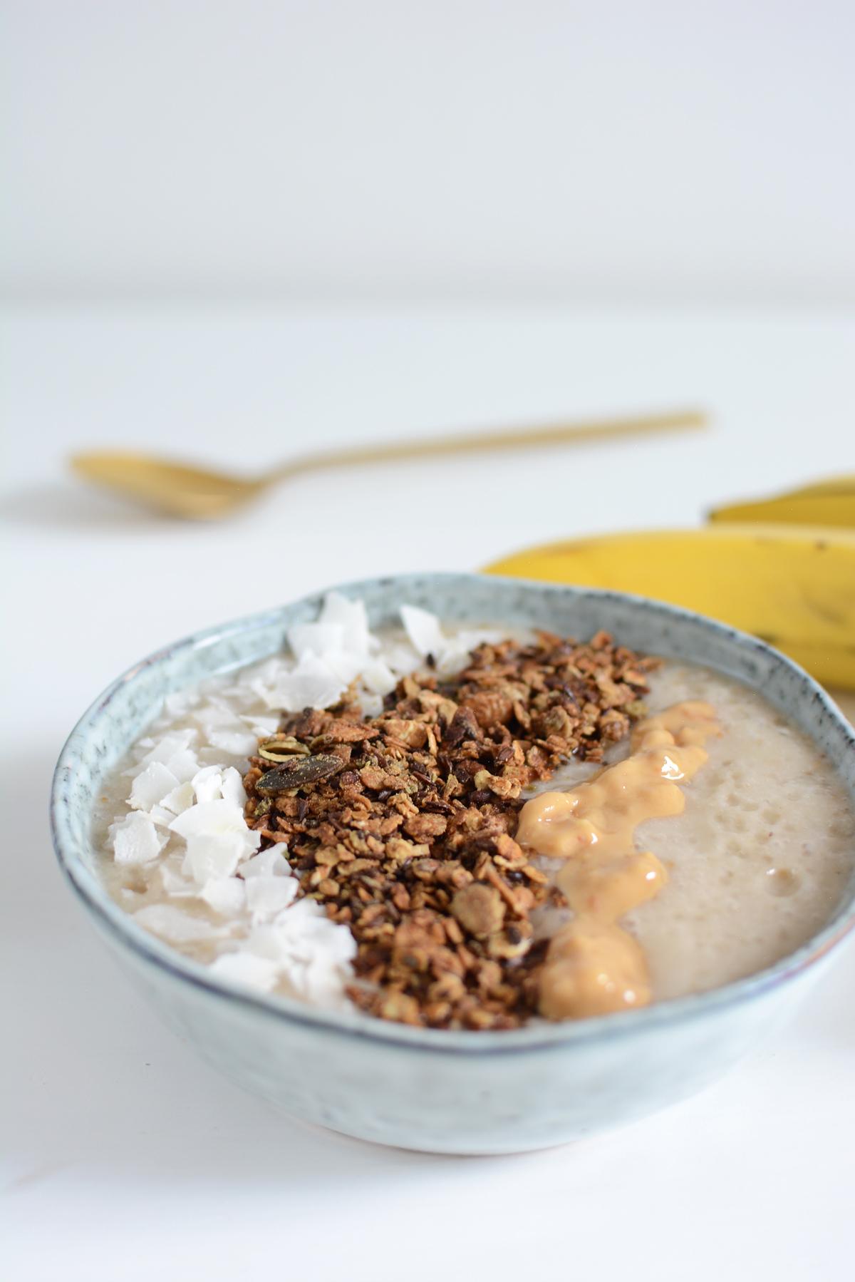 Banana Smoothie vegan | Pixi mit Milch