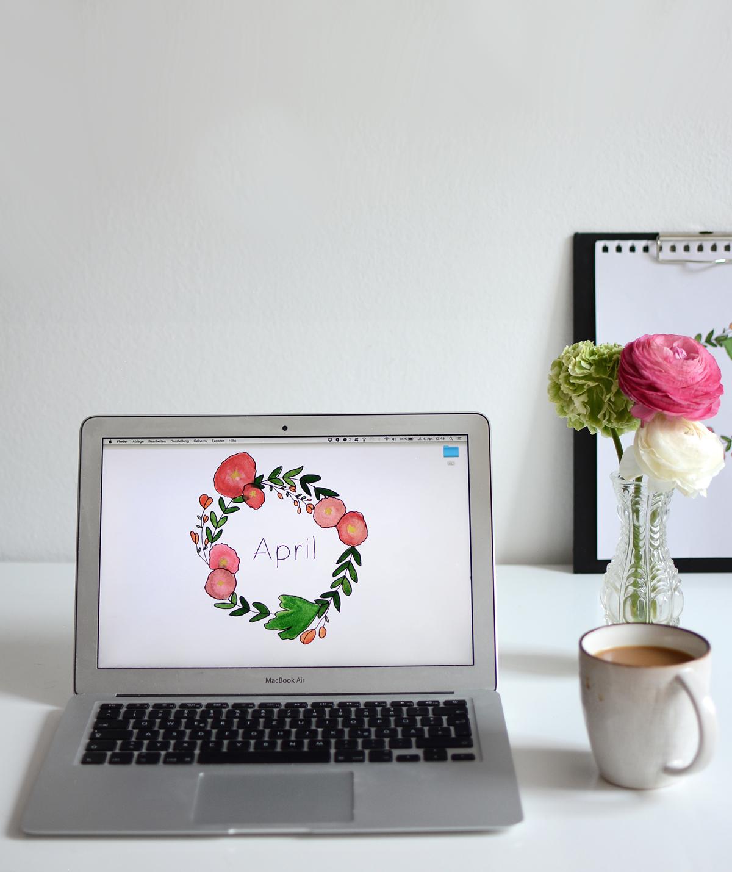 Blumenkranz-Wallpaper | Pixi mit Milch