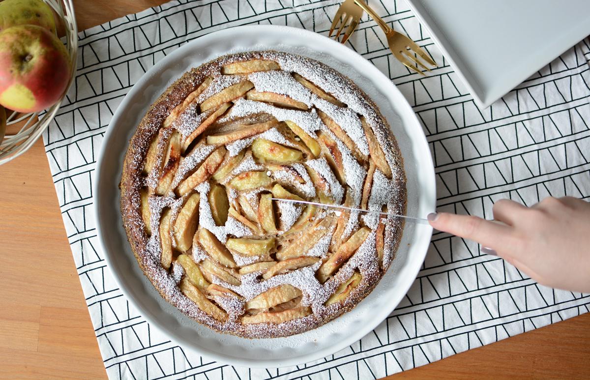 Rezept: Apfelkuchen | Pixi mit Milch
