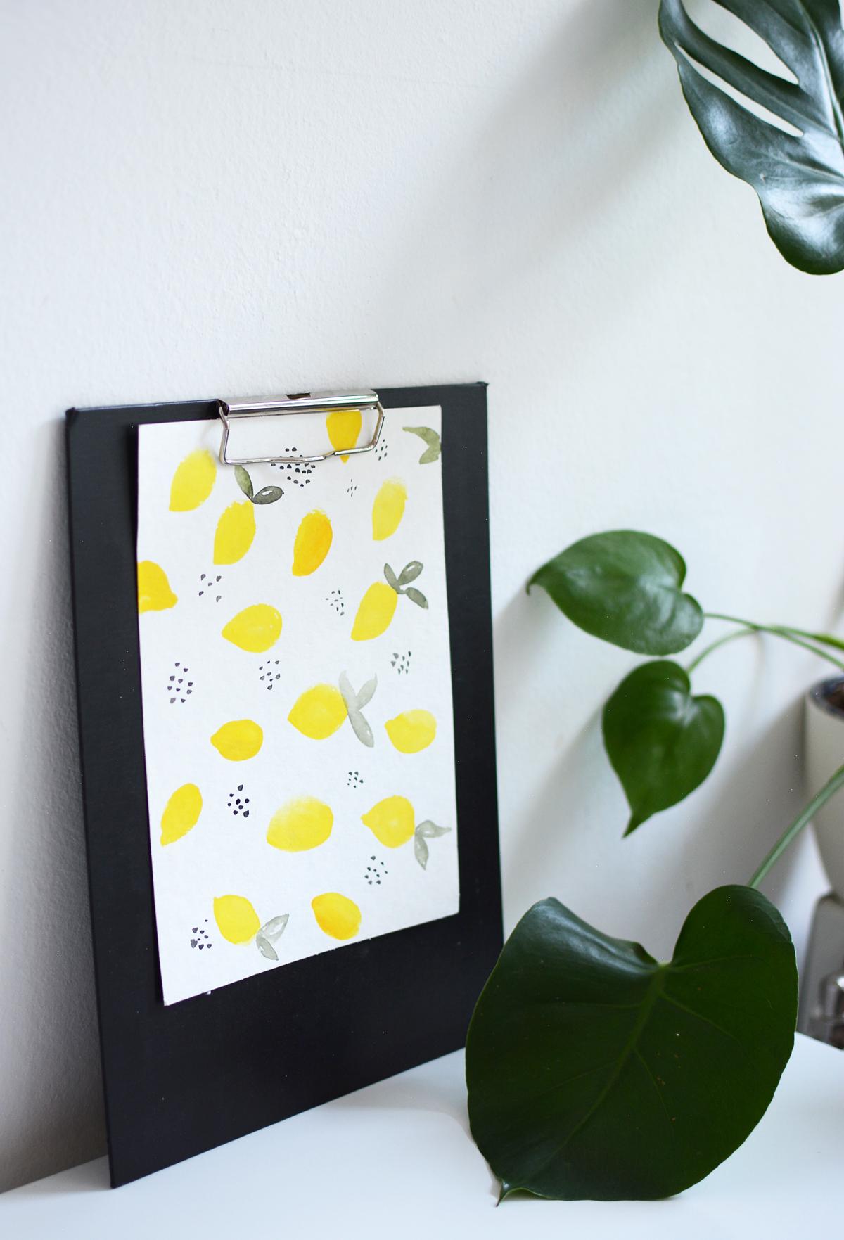 Lemon-Wallpaper Zeichnung | Pixi mit Milch