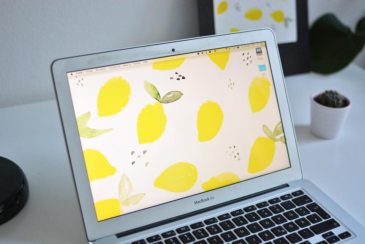 Lemon Wallpaper | Pixi mit Milch