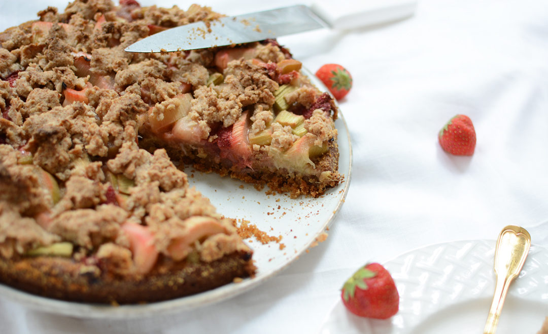 Rezept: Rhabarber-Kokos-Kuchen | Pixi mit Milch