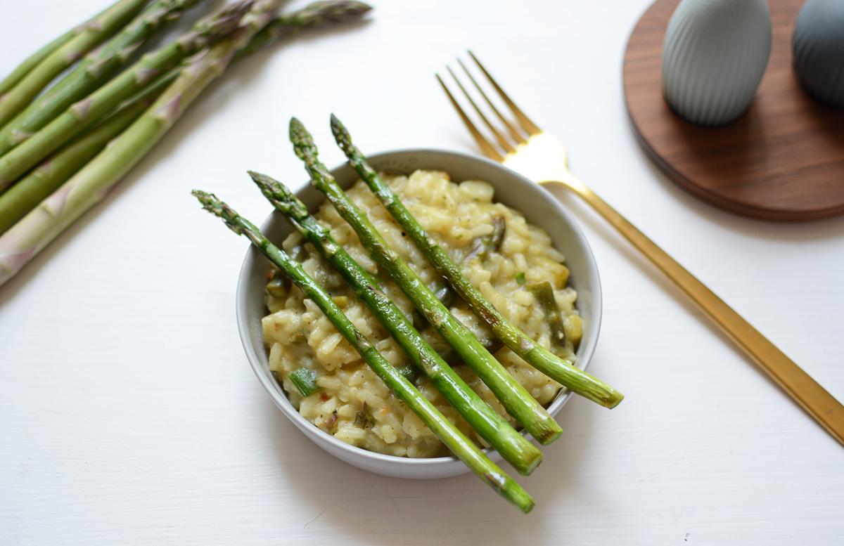 Veganes Spargel-Risotto | Pixi mit Milch