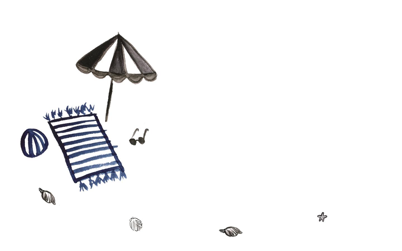Wallpaper: Beach-Summer | Pixi mit Milch